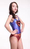 Sexy Bikini SUPERMAN WONDER WOMAN CAPE SUIT ELK  WESTEROS WIN OR DIE SWIMSUIT Digital Print Swimwear superman style 5201
