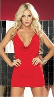New Deep v sexy low cut backless nightclub ladies skirt package hip dress free shipping