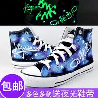 Shoes luminous canvas shoes hand-painted shoes graffiti shoes Hand-painted shoes