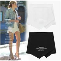 2PCS/LOT European Hot summer fashion irregular  loose women shorts cotton shorts high waist shorts