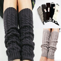 2014 Autumn Winter Women knitting Crochet Fashion Leg Warmers Legging Foot Hosiery Stock