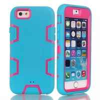 For Apple iPhone 6 6G 6TH iPhone6 4.7 Inches Defendered Case Hybrid Rubber Rugged Combo Matte Case Hard Cover w/Protect