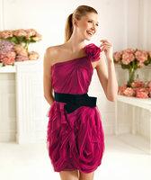 Han edition bride wedding dresses 2013 latest buds that wipe a bosom skirt bridesmaid dresses short dress
