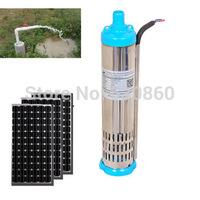 3T/H Solar pump 80m head solar well water pump Submersible Solar Pump for Deep Well 1500W
