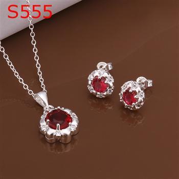 S0555 925 серебро ювелирные изделия комплект, Ювелирные изделия комплект два частей ювелирные изделия комплект