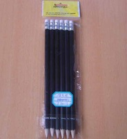 Factory direct wholesale and customize HB 2B black pencil eraser to customize the LOGO