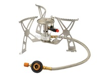 Portable Cooking Stove Camping Gas Burner Camping Stove Backpacking Gas-powered Stove with Pouch for Outdoor
