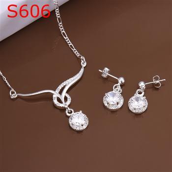 S0606 925 серебро ювелирные изделия комплект, Ювелирные изделия комплект два частей ювелирные изделия комплект