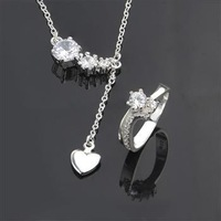 S0675 Wholesale, free shipping 925 silver jewelry set, fashion jewelry set  Two-Piece Jewelry Set