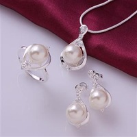 S0733 Wholesale, free shipping hot 925 sterling silver jewelry sets, fashion jewelry necklace&ring&earrings  Jewelry Sets