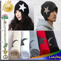 NEW Fashion Pentagram Beanie Knitted Hat Women and Men Knitting Unisex Hat Winter / Autumn Warm Hats Ladies Cap Wholesale