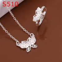 S0510 Wholesale, free shipping 925 silver jewelry set, fashion jewelry set  Two-Piece Jewelry Set