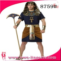 Golden king Of Egypt Special Festival Costumes Clothing Men Role-Playing Clothing Free Shipping accept  small quantities m4860