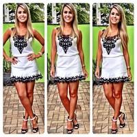 New Women Summer Dress 2014 Hot Selling Sexy Lace Chiffon White Party Dresses Ladies Vestidos Femininos Women Clothing