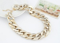 12PCS Order CCB Vintage Gold Plated Chunky Punk Chain Choker Collar Bib Statement Necklace Fashion Jewelry For Women #88888