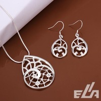 Fashion 925 silver jewelry set  necklace & Earrings  Crystal Jewelry jewelry sets Wholesale 925 silverwomen's Sets,