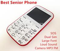 Original Senior Phone Big Speaker/ Font/ Flashlight Dual Sim Camera MP3 FM Cheap Elder/ Old Man Phone Russian Language Keyboard