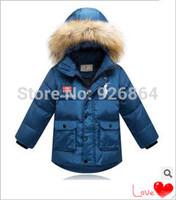 2014 children's children down jacket big boy baby boy thick winter jacket dress clothing set