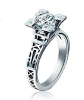 New Acme French Fashion stylist Eiffel Tower Gripper High Quality CZ Diamond Finger Rings
