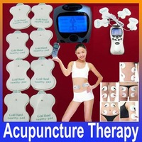 Health Care Electric Tens Acupuncture Full Body Massager Digital Therapy Machine 8 Pads For Back Neck Foot Amy Leg Free Shipping