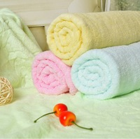 free shipping  cheapest  a pack =4 pcs pink  yellow green blue 34*76cm High Quality Cotton Towel