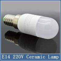 1x Mini E14 LED Bulbs Tube Ceramic 220V 3W 5W 7W SMD 5730 Crystal Lamps Corn Chandelier Droplight Spot Light Refrigerator light