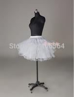 Free shipping White Tulle Girls Petticoat Slip With No Hoop Short Underskirt For Ball Wedding Dress 2014 New Arrival