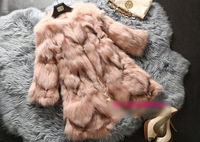 2014 New Fashion Luxury Genuine Fox Fur Coat Middle Loing Natural Fox Fur Coat Winter Real Fox Fur Coat For Woman 20140823-2