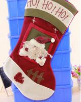 GAGA!Free shipping shipping high quality beautiful and fashionable flannelette santa claus christmas stocking,24pcs/lot,YS2-3
