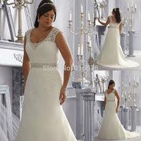Plus Size Vestidos De Noiva 2014 Wedding Dresses Exquisite Wedding Gown Ivory And Sliver Bridal Dress Floor Length