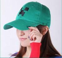 Pokemon hat small hat baseball cap,Minecraft JJ Monster Creeper ToyStuffed Doll Green Monster ,Cartoon Game Children Caps,