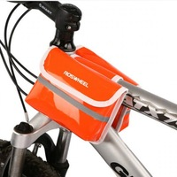 New Promotion! Roswheel  New Orange Cycling Bicycle Sport Bike Frame Pannier Front Tube Both-Side Bag