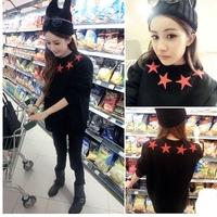 Harajuku star pullover preppy style baseball uniform shirt plus size women clothing printed desigual women punk sweatshirt