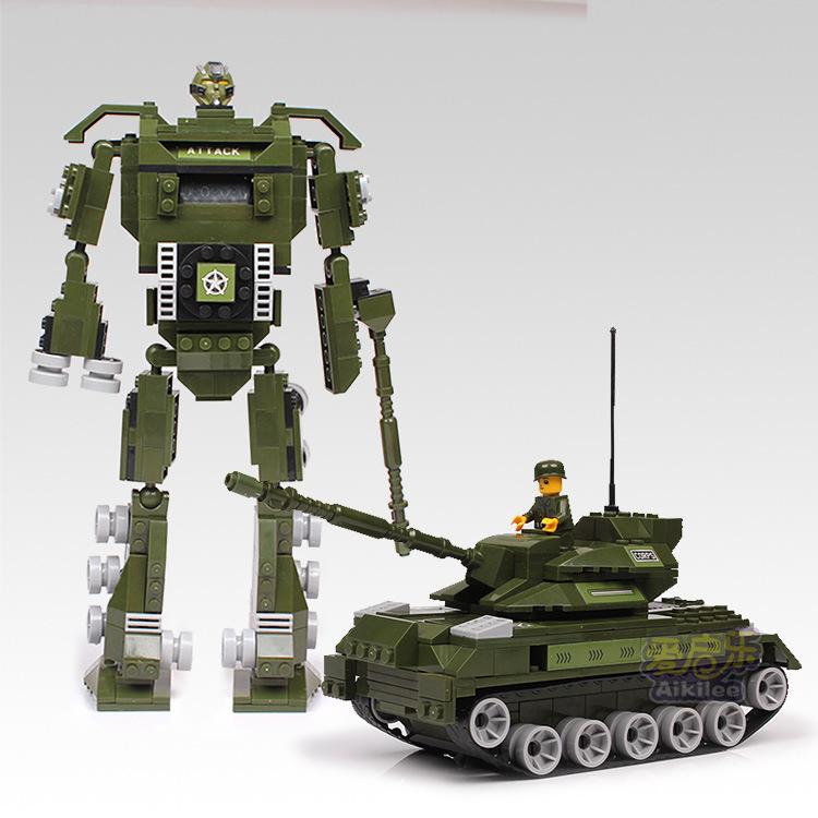 macronychia Child Enlighten Educational Building Blocks Set Corps Robot Toy Blocks DIY Autobots Military Toys intelligence toy(China (Mainland))