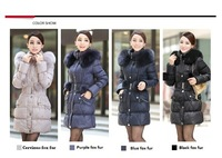 Women's winter coat 2014   DHL Free(for most)100%  Guaranteed Genuine FOX FUR Collarjaqueta inverno plus size