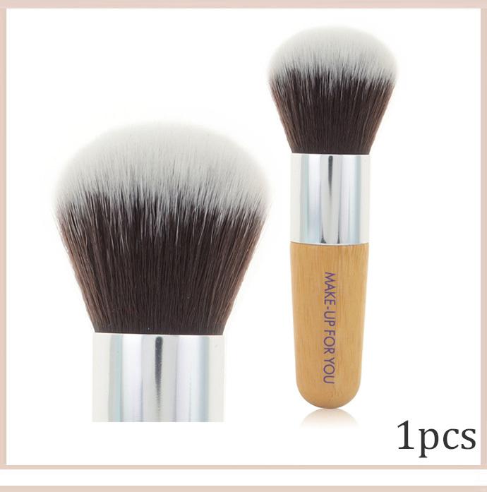 2014 new Free shipping Professional 1PCS multifunction Round foundation brush bamboo handle High quality makeup brush(China (Mainland))