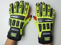 No.421015 Roughneck Oilfield Gloves oil resistant gloves Protective Work Gloves Thicken Warm Working Gloves Yellow Size M/L/XL