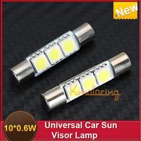 New  10X 31mm 0.6W 3-SMD 5050 LED Fuse Visor Vanity Mirror Lights LED light Bar Xenon White