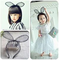 Handmade BABY girls rabbit ear headbands,girls hair headband bows,children hair accessories,kids party headwear,baby hair band
