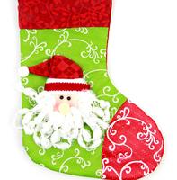 GAGA!Free shipping shipping beautiful and fashionable santa claus christmas stocking,40pcs/lot,YS2-11