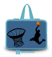 """Playing Basketball Model10""""13""""14""""15""""17"""" Laptop Hidden Handle Pouch Case Neoprene Computer Carring W/Tide Sleeve Bag For  IBM HP"""