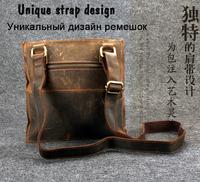 Retro messenger bag 100% Genuine Leather Men Shoulder Bags Quality Guaranteed Brand New  Men's Shoulder Bag