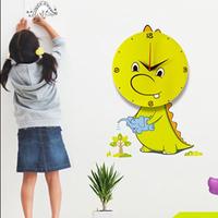2014 DIY Cute cartoon 3D stereo Home children's bedroom decorations wall clock Plastics modern design Round pointer wall watch