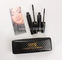 3D Fiber Mascara Fiber Lashes BLACK Natural Eyelash Extentions Free Shipping 1SET=2PCS