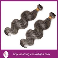 Free Shipping!2014 Hot sell Brazilian human hair 1b# mix 60#  color body wave hair weaving