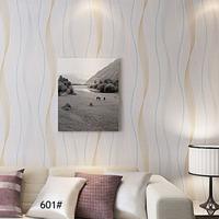 PVC Striped Wallpaper 3D Wallpaper Roll Waterproof Modern for Bedroom Kids Room Wall Home Decor papel de parede Room