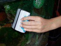 Free Shipping, 9*4cm Magnetic Brush (S) Aquarium Fish Tank Glass Algae Scraper Cleaner Floating Pet Cleaning Tool Accessories