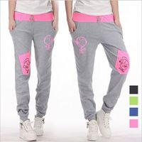 HA-15 New 2014 Spring Autumn Cotton Casual pants Sportswear Hip hop pants Dance Jogging women sport trousers sweatpants