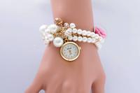 high quality luxury brand diamond women wristwatch Pearl bracelet watch female ladies gift watch women watches dress