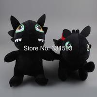 Anime Free shipping How to Train Your Dragon 2 Anime Cartoon  Toothless Night Fury Plush Toy Soft Stuffed Doll 2pcs/set